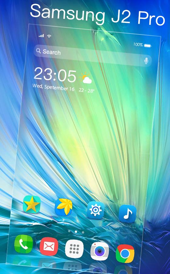 Galaxy J2 Pro Free Android Theme U Launcher 3d