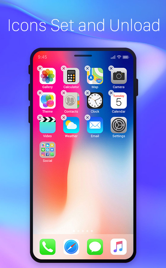 ios launcher wallpaper: IOS Launcher-Pro Free Android Theme