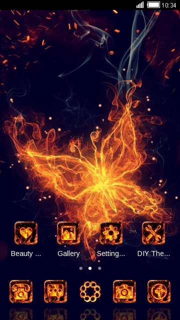 flame butterfly theme for Lava