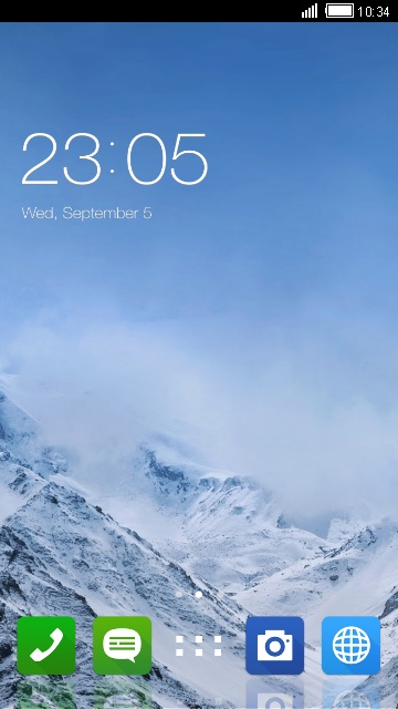 Winter Theme for Asus ZenFone 5