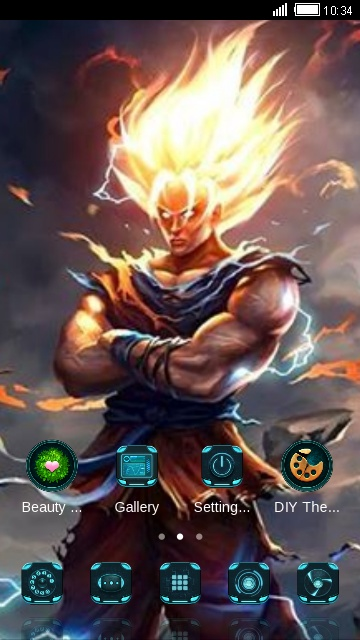 Download dragon ball z s40 java themes for mobile.