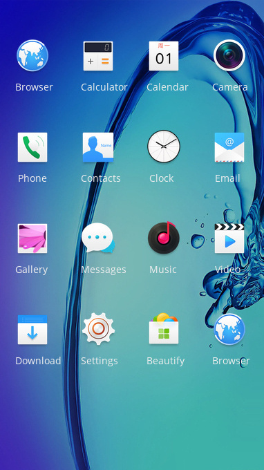 Blue water flow art free android theme – U launcher 3D