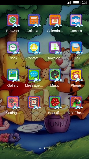 Winnie The Pooh free android theme – U launcher 3D