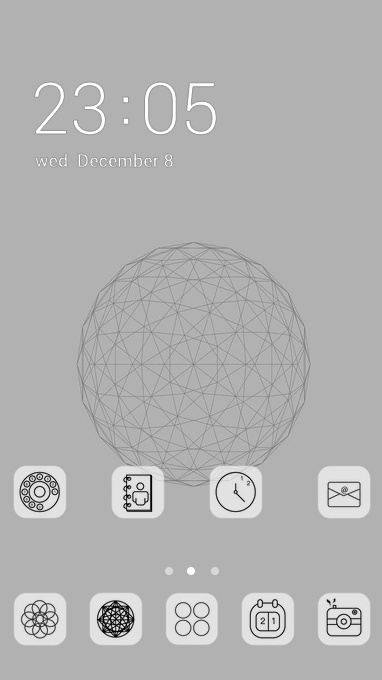abstract line theme
