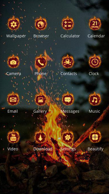 flame smoke theme