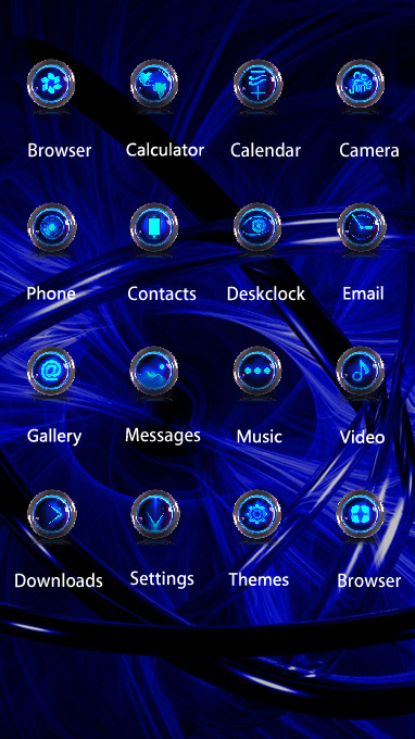 Fantasy/sci-fi theme blue circles wallpaper