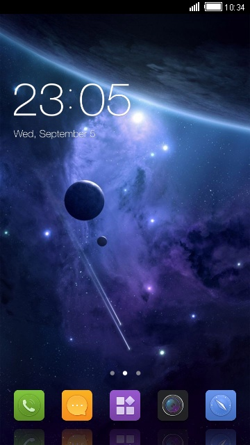 Theme for Sony Xperia M4 Aqua space wallpaper