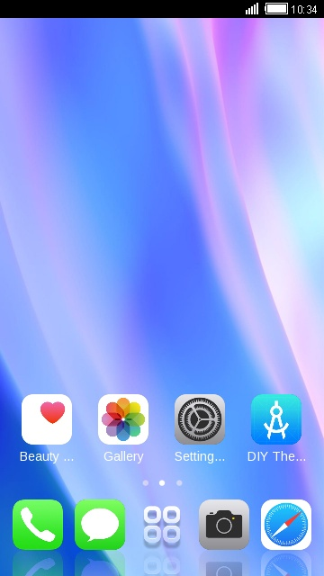 Theme for iPhone X: Neon Silk Wallpaper & Icon