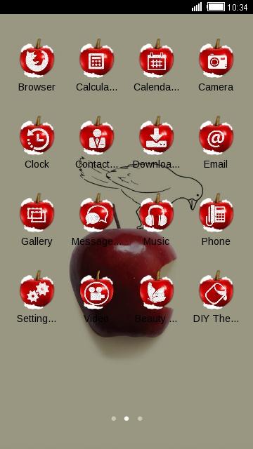 bird on red apple