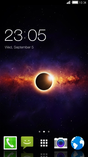 Theme for Panasonic GD21: eclipse live wallpaper
