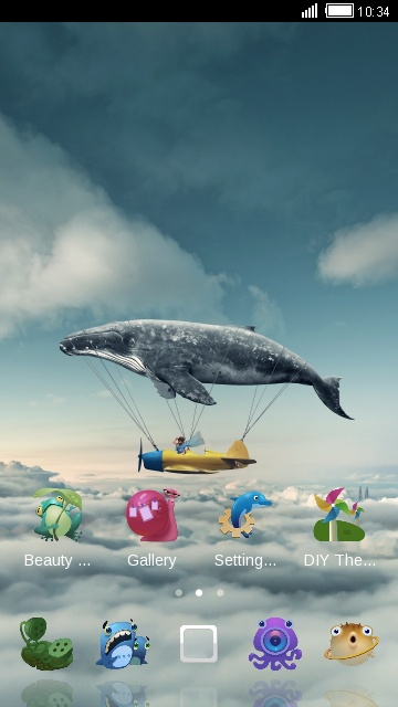 Ocean Animals Theme: sky whale wallpaper HD