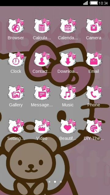 Download hello kitty theme for your Android phone — CLauncher