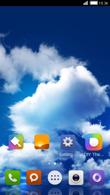 Theme for Xiaomi Redmi Pro Blue Sky Wallpaper HD