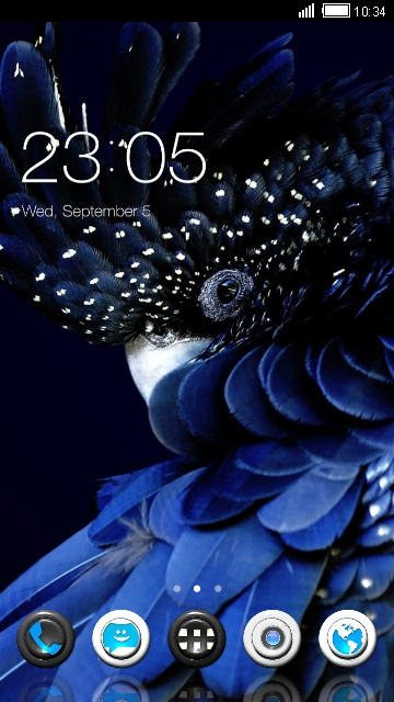 Elegant Launcher Blue Feather