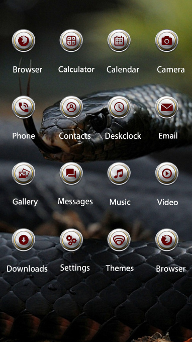 Pet animal theme snake tongue scales wallpaper