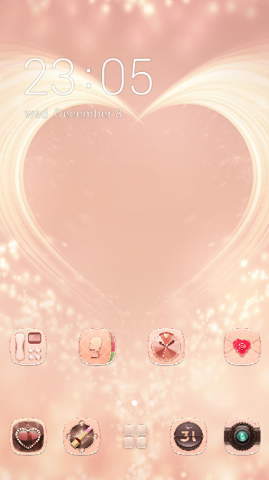 Love theme colorful brilliant red heart wallpaper