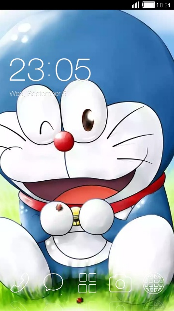 Download Doraemon Cute 3d Theme For Your Android Phone Clauncher