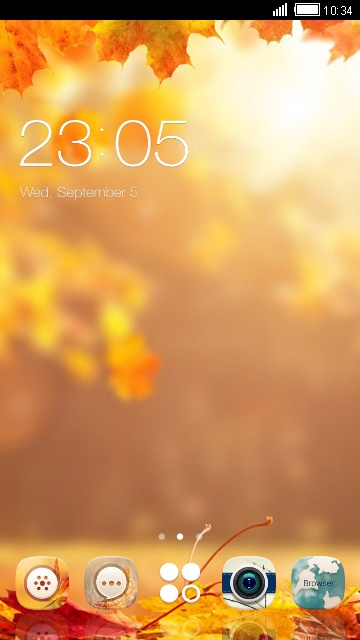 Autumn Theme maple leaves Live Wallpaper