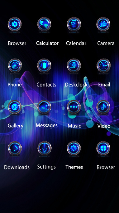 Neon theme bright light rays blue shiny wallpaper
