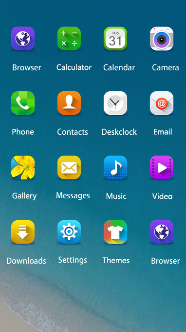 Download Samsung Z2 theme theme for your Android phone