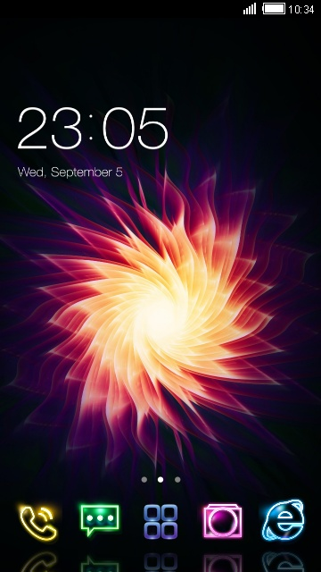 3D Neon flowers live wallpaper - Theme for phone