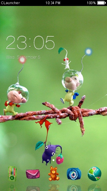 Download Cute Cartoon theme for your Android phone — CLauncher