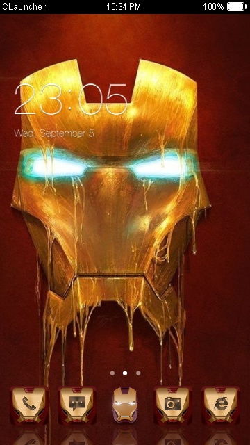 Ironman Logo free android theme – U launcher 3D