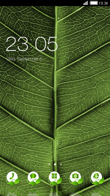Green Nature Theme Leaf Live Wallpaper