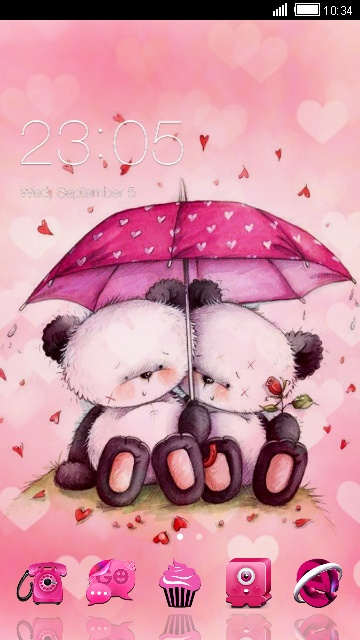 download pink love theme for your android phone clauncher