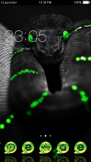 Download Razer Snake theme for your Android phone — CLauncher