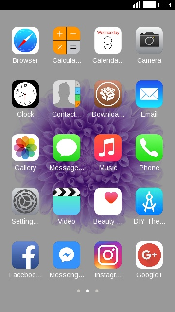 Download Theme for iPhone 6 plus HD theme for your Android
