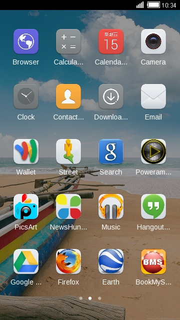 Theme for Huawei Honor 3 Beach wallpaper