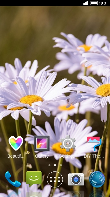 Theme for iBall Andi 5.5H Weber Daisy Wallpaper