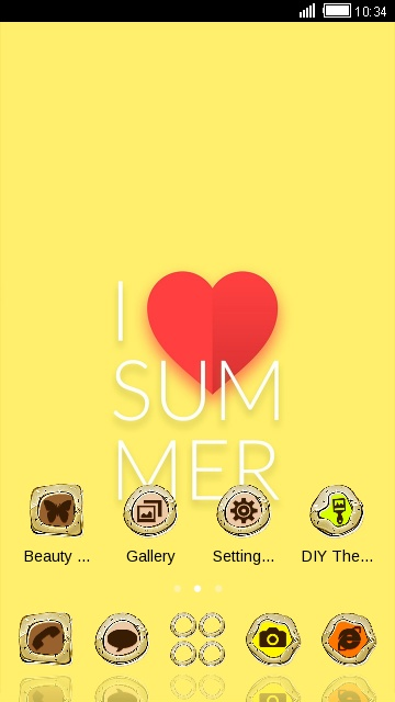 Neat Theme I Love Summer Wallpaper