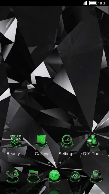 Cool Black Neon Green Tech