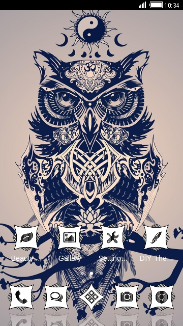 Vintage Animal Theme: Owl  art