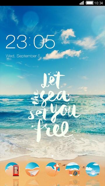 Beach Live Wallpaper Blue Sea Theme