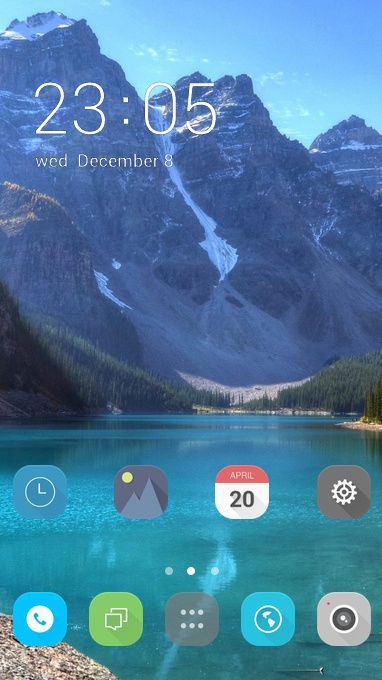 OPPO F9 mountain free android theme – U launcher 3D