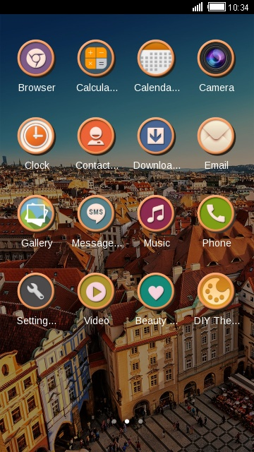 Cityscape Launcher Theme Phone Wallpaper