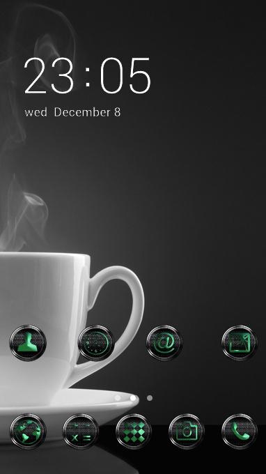 Black Theme Coffee Steam Cup Wallpaper