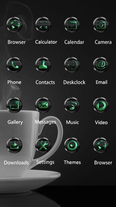 Download Black Theme Coffee Steam Cup Wallpaper Theme For Your