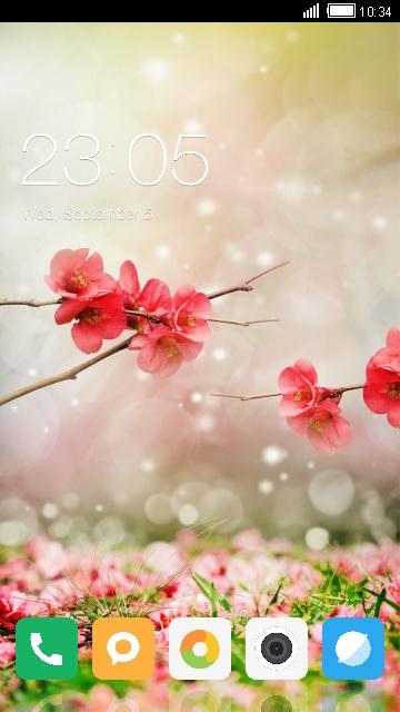 Flower Miui Theme for Xiaomi Redmi 5