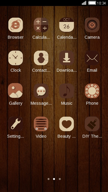Simple Brown Theme Wood Texture Wallpaper