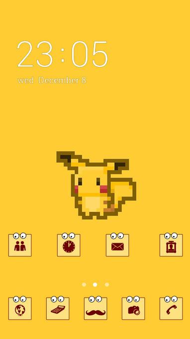 pixel pikachu theme