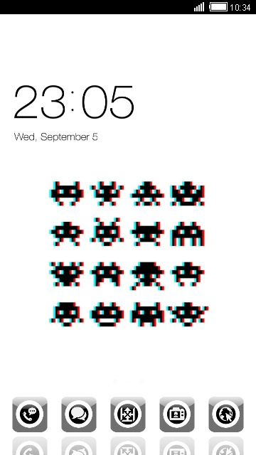 Black&White Space Invaders