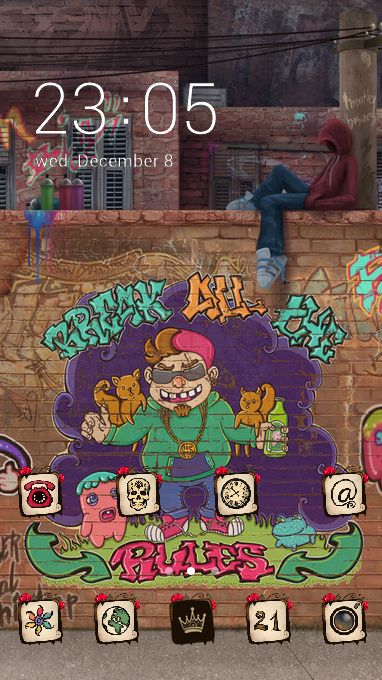 Graffiti art theme hand drawn doodle wallpaper