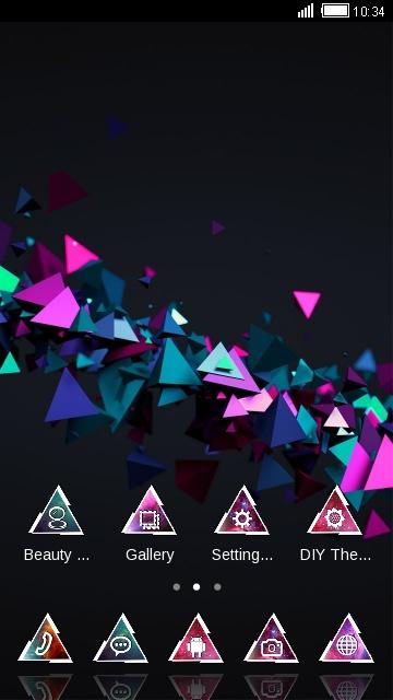 3D Cube Launcher Theme Cool Tech Wallpaper HD