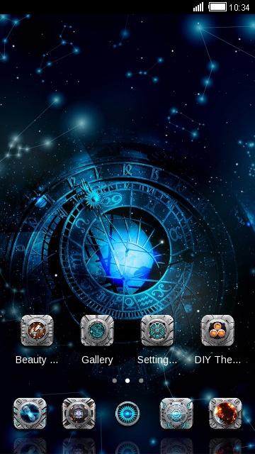 Mystical Theme Astronomical Clock Wallpaper