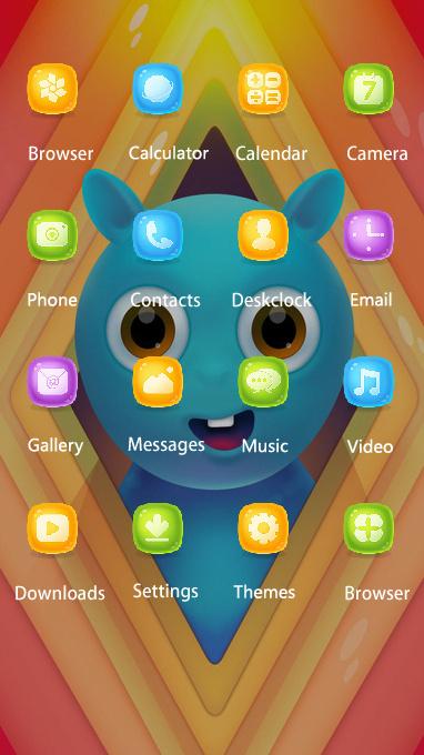 Pet animal theme colorful cartoon wallpaper