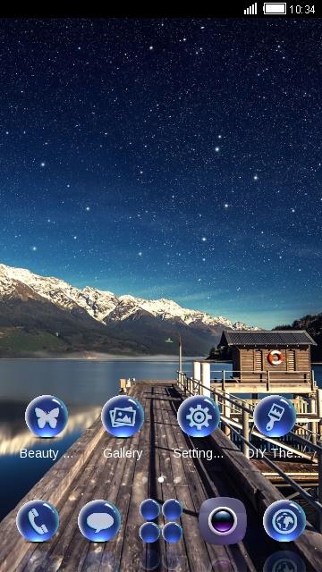 Blue Starry Sky Night